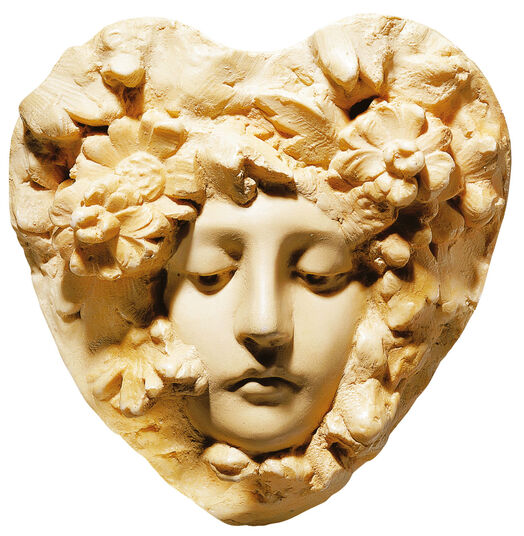 Art nouveau relief 'Titania', version in artificial marble