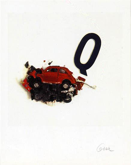 """Picture """"La Lettera Q"""", unframed"""