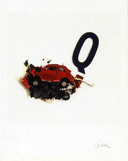 "César: Picture ""La Lettera Q"", unframed"