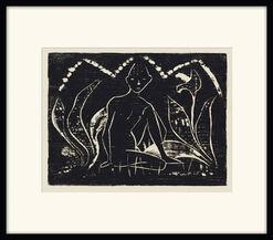 """Bild """"Knabe zwischen Blattpflanzen"""" (1912)"""