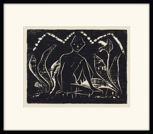 """Otto Mueller: Bild """"Knabe zwischen Blattpflanzen"""" (1912)"""