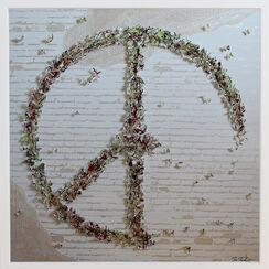 """3D-Bild """"Peace"""" (Original / Unikat), gerahmt"""