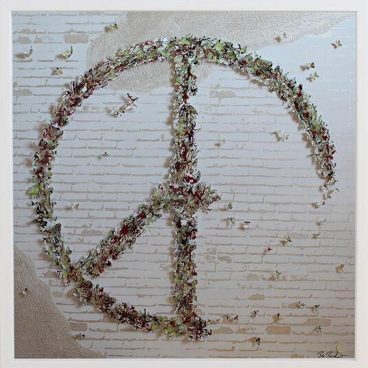 "Ben Buechner: 3D-Bild ""Peace"" (Original / Unikat), gerahmt"