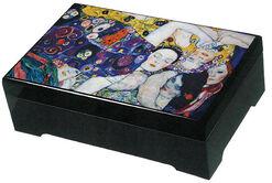 "Musical jewelry box ""Girls"" - after Gustav Klimt"