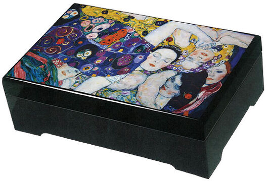 "Gustav Klimt: Musical jewelry box ""Girls"" - after Gustav Klimt"
