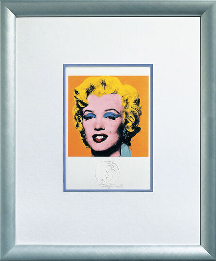 "Andy Warhol: Bild ""Shot Orange Marilyn"" (1967), gerahmt"