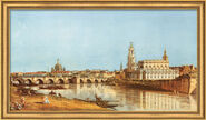 "Picture ""Dresden Elbe river from the right"" (1751) in museum Frame"