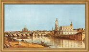 "Bild ""Dresden vom rechten Elbufer"" (1751), gerahmt"