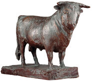 "Sculpture ""Bull"" (1979), bronze"