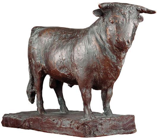 "Elmar Dietz: Skulptur ""Stier"" (1979), Bronze"