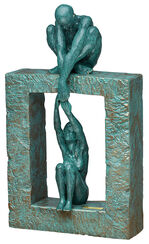 "Sculpture ""Connection"", art casting"