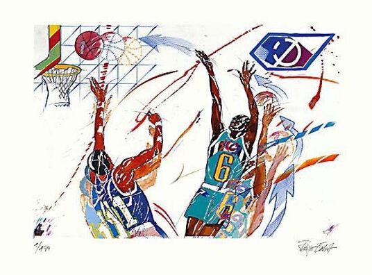 """Rüdiger Eschert: Bild """"Basketball"""", ungerahmt"""
