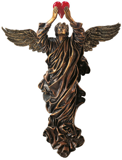 """Thomas Schöne: Wall object """"The Lost Heart"""" (1995), version in artificial bronze"""