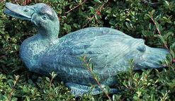 """Garden Sculpture / Gargoyle """"Reclining duck"""", bronze"""