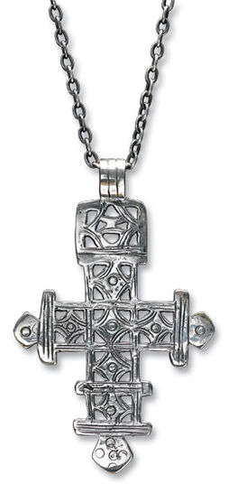 "Necklace ""Coptic cross"", sterling silver"