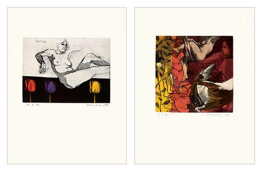 """Kurt Mair: 2 Bilder """"Natur"""" und """"Appogio"""" im Set"""