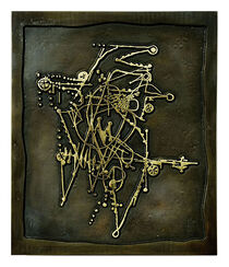 """Bronze-Relief """"Oiseaux II"""" (1987)"""