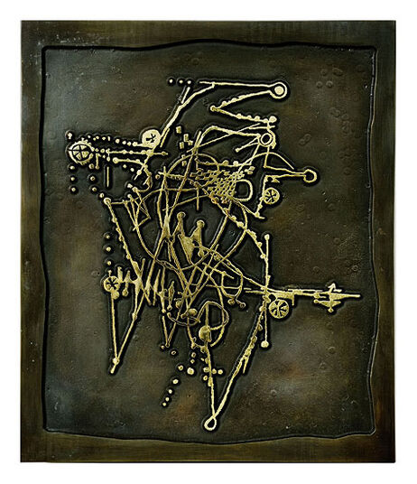 "Johnny Friedlaender: Bronze-Relief ""Oiseaux II"" (1987)"