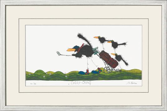 "Michael Ferner: Bild ""Caddy Crows"" (2010), gerahmt"