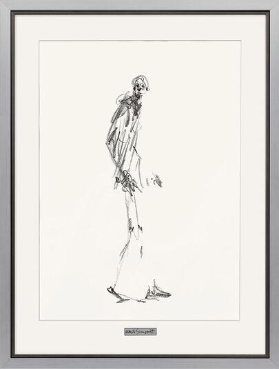 """Alberto Giacometti: Bild """"Dessin II (Schreitender Mann)"""", gerahmt"""