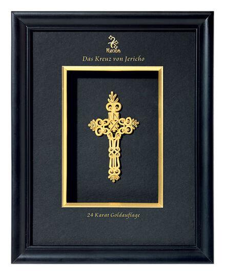 """""""Das Kreuz von Jericho"""" mit 24karätiger Goldauflage, gerahmt"""