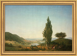 "Picture ""The Summer (Landscape with Lovers)"" in museum frame"