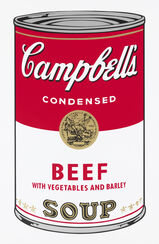 "Bild ""Warhols Sunday B. Morning - Campbell´s Soup - Beef"" (1980er Jahre)"