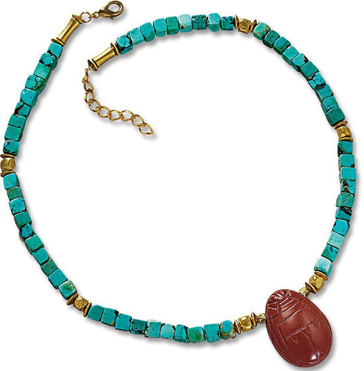 "Petra Waszak: Necklace ""Scarab"""