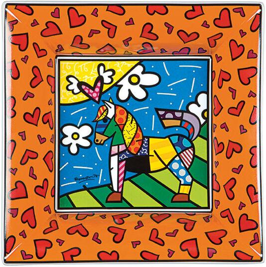 """Romero Britto: Porzellanschale """"Dancer"""", orange"""