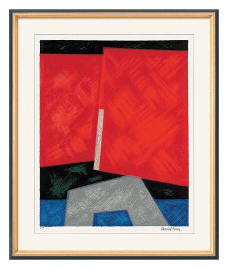 """Osmund Hansen: Bild """"Zwei rote Flächen"""" (1995)"""