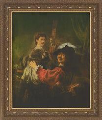 "Bild ""Selbstbildnis mit Saskia"", 1635-39, gerahmt"