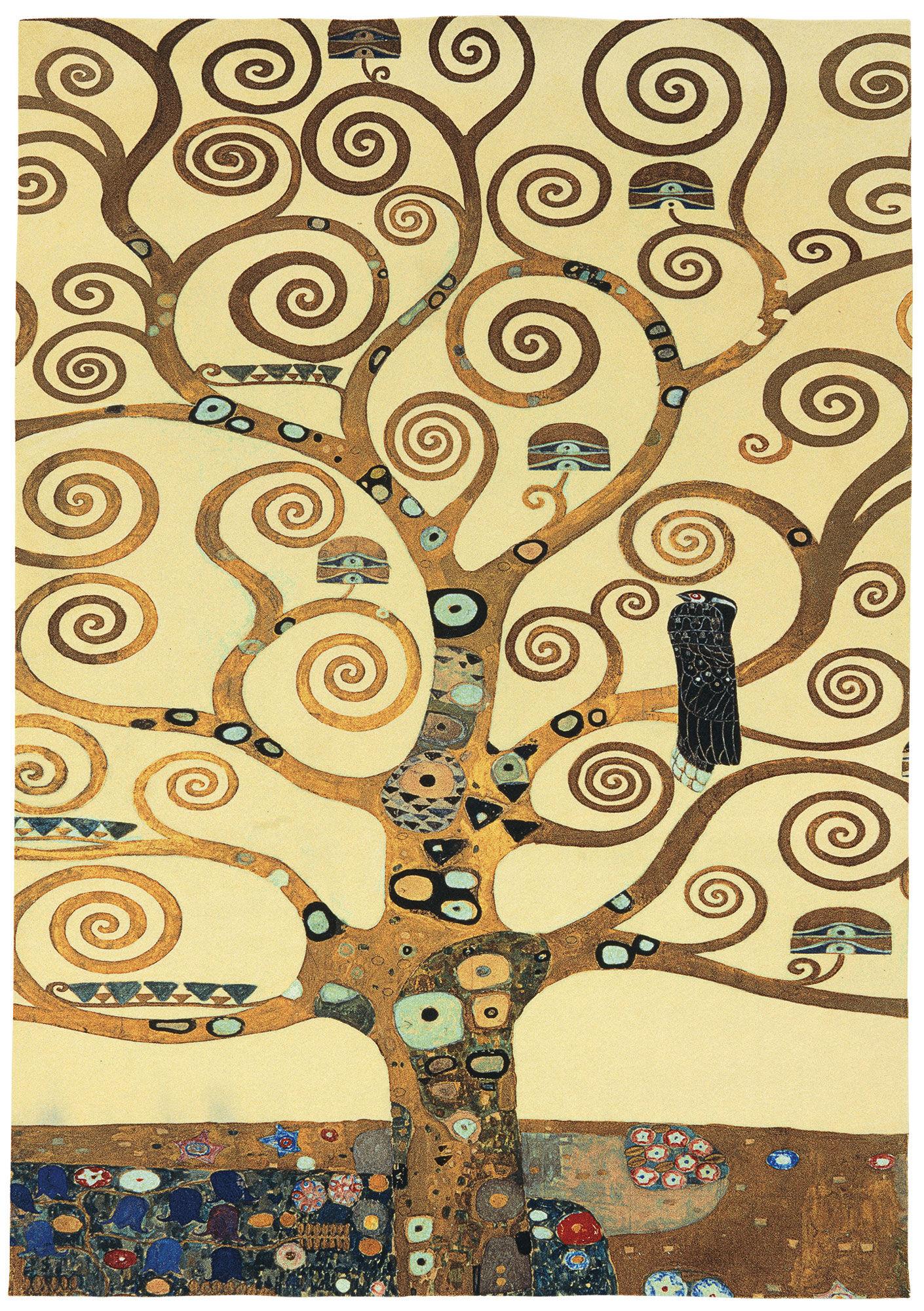 gustav klimt teppich lebensbaum eckig 230 x 160 cm ars mundi. Black Bedroom Furniture Sets. Home Design Ideas