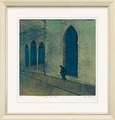 "Painting ""Tanger - Goals in Blue"" (2008), unframed"