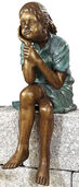"Garden sculpture ""Sitting girl"", copper alloy"