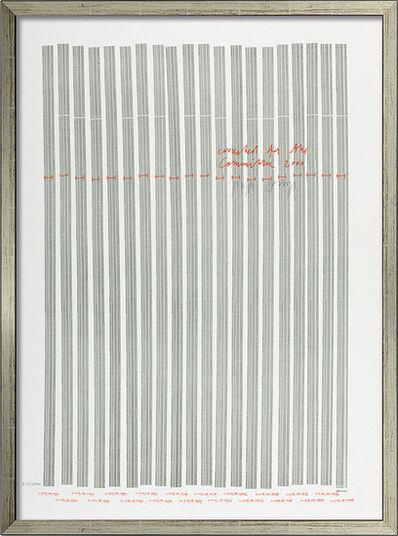 "Joseph Beuys: Bild ""Countdown 2000"", gerahmt"