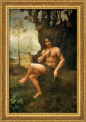 "Picture ""Bacchus / John the Baptist"" (1513/16) in museum frame"