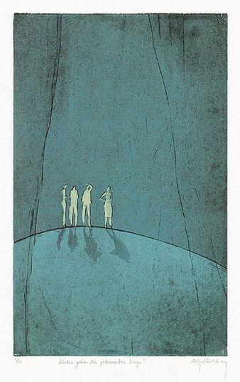 """Antje Wichtrey: Bild """"Wohin gehen die geträumten Dinge?"""" (2011), ungerahmt"""