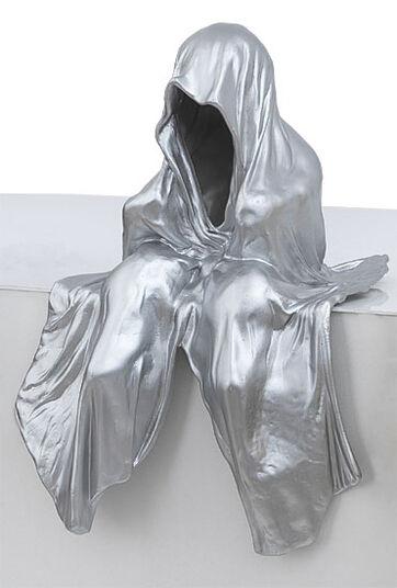 "Manfred Kielnhofer: Figure ""Mini Guardians"" (2012), silver-lacquered version"