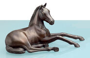 "Horse sculpture, Arab mare ""Young Dream"", bronze"