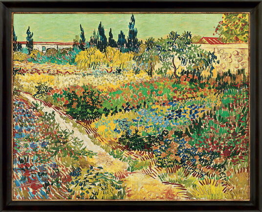 "Vincent van Gogh: Painting ""Flowering Garden"" (1888)"