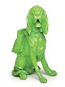 """Skulptur """"Cloned Bloodhound with Rucksack"""" (2010), grün"""