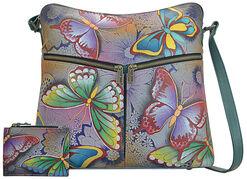 """Schultertasche """"Butterfly"""" der Marke Anuschka® mit extra Etui"""