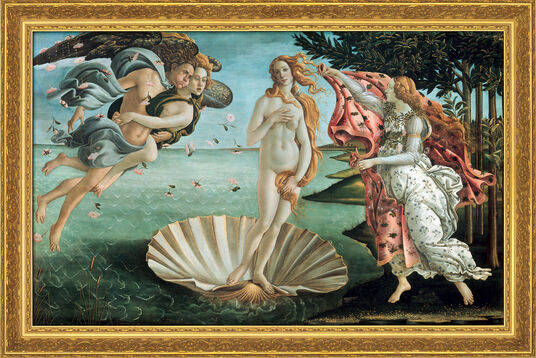 "Sandro Botticelli: Painting ""The Birth of Venus"" (1484/86), framed"