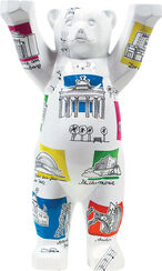 """United Buddy Bears"" -Miniature ""Culture Capital"" artistic metallic castings"