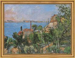"""Bild """"Das Meer bei L´Estaque"""" (1876), gerahmt"""