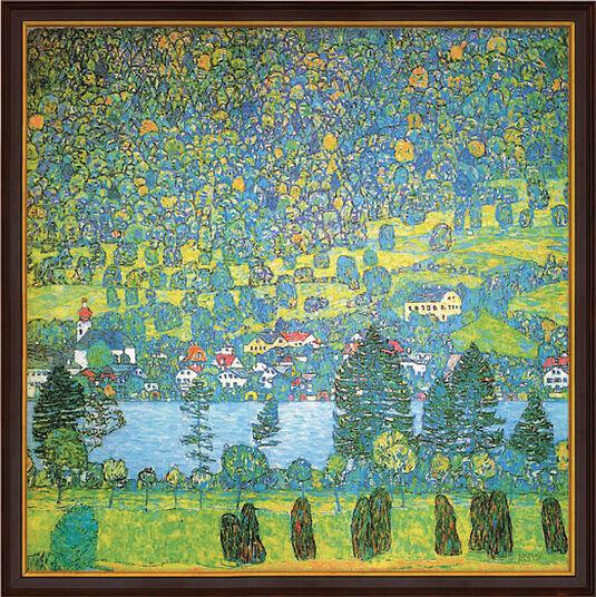 """Gustav Klimt: Bild """"Waldabhang in Unterach am Attersee"""" (1917), gerahmt"""