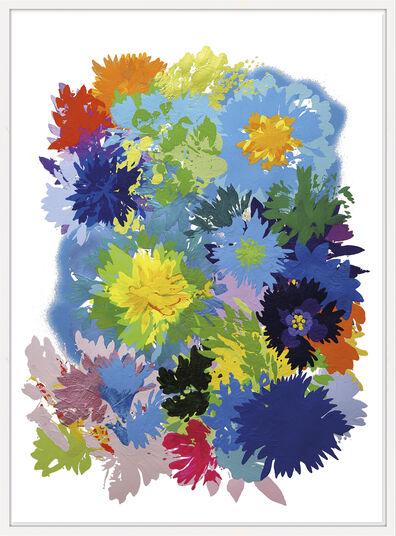 "Ulrike Bultmann: Bild ""Blossom Blue"" (2013) (Unikat)"