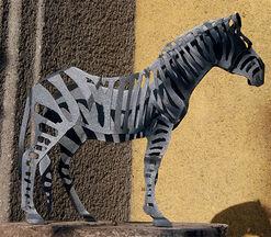 Garden sculpture 'Zebra' (small version)