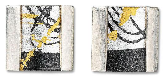 Kreuchauff-Design: Stud earrings 'Evening of Gold'