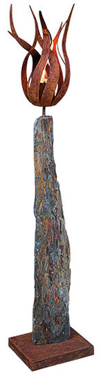 "Garden stele ""Fire Flower"", large version"